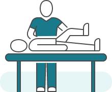 Illustration d'une séance de kinésithérapie pour illustrer : Prostatectomie.