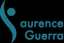 Le logo en bleu de Laurence Guerra kinésithérapeute à Tarbes.